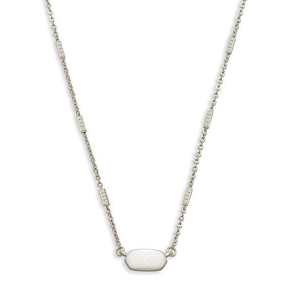 Kendra Scott Fern Necklace in Silver Bremer Jewelry Peoria, IL