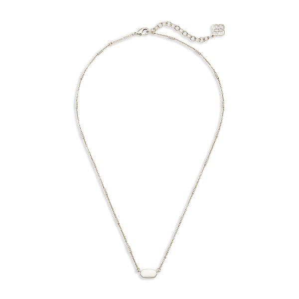 Kendra Scott Fern Necklace in Silver Image 2 Bremer Jewelry Peoria, IL