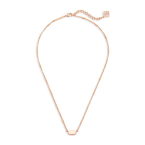 Kendra Scott Fern Necklace in Rose Gold Image 2 Bremer Jewelry Peoria, IL