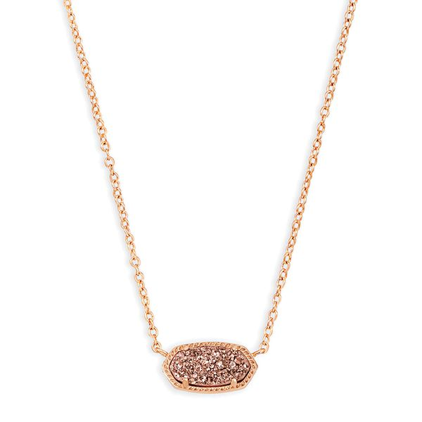 Kendra Scott Sand Drusy Elisa in Rose Gold Bremer Jewelry Peoria, IL