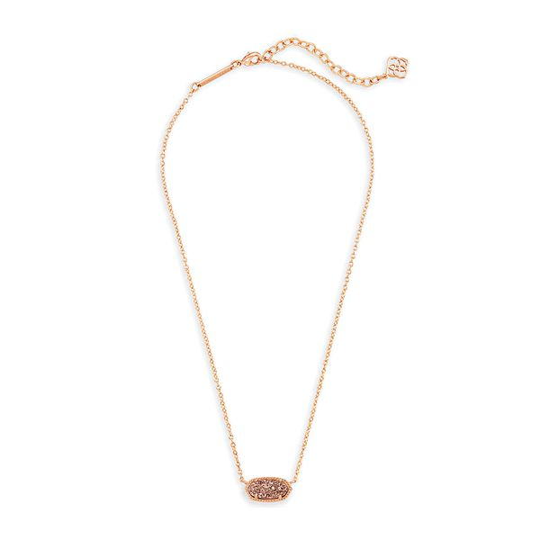 Kendra Scott Sand Drusy Elisa in Rose Gold Image 2 Bremer Jewelry Peoria, IL
