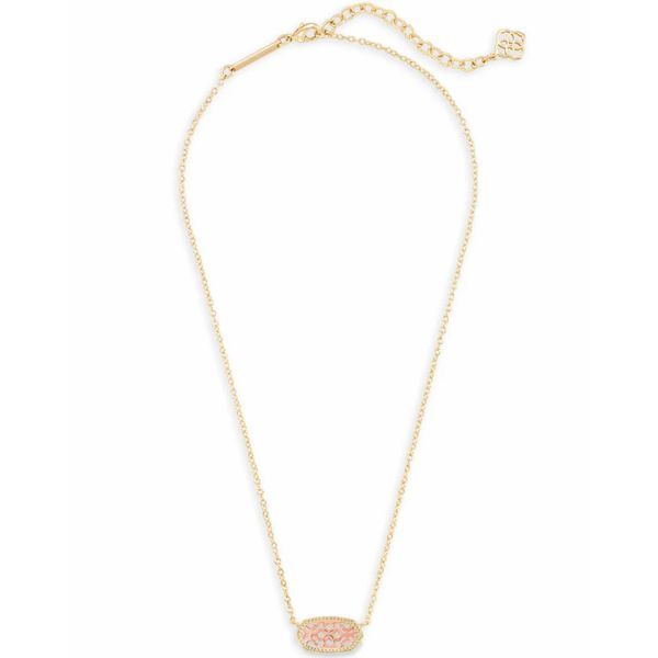 Kendra Scott Filigreen Elisa Necklace in Rose and Yellow Gold Image 2 Bremer Jewelry Peoria, IL