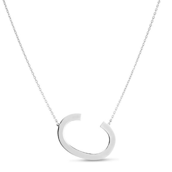 "Large ""C"" Initial Necklace in Sterling Silver Bremer Jewelry Peoria, IL"