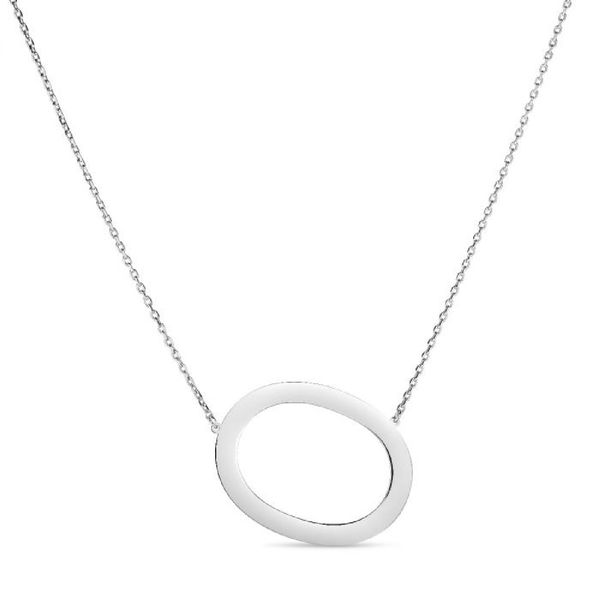 "Large ""O"" Initial Necklace in Sterling Silver Bremer Jewelry Peoria, IL"