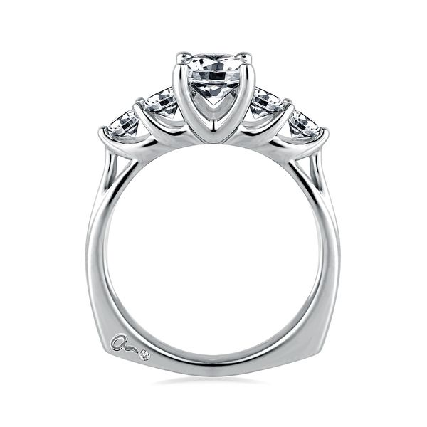 A.JAFFE Classics 14k White Gold Diamond Engagement Ring Setting Image 3 Bremer Jewelry Peoria, IL
