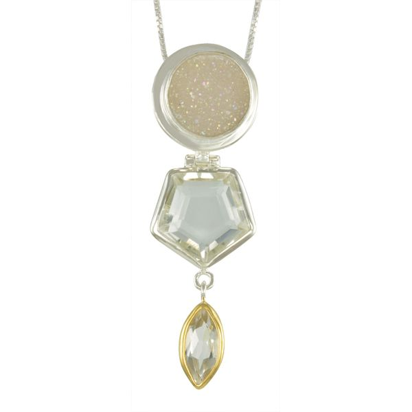 Drusy and Quartz Michou Necklace Clater Jewelers Louisville, KY