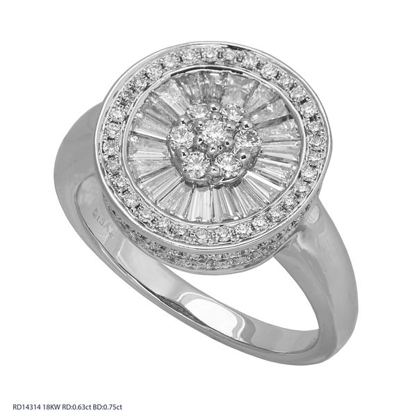 Round Diamond Cocktail Ring 1.38ctw Clater Jewelers Louisville, KY