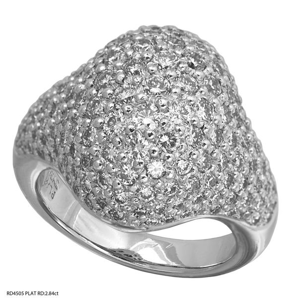 Domed Diamond Platinum Ring 2.84ctw Clater Jewelers Louisville, KY