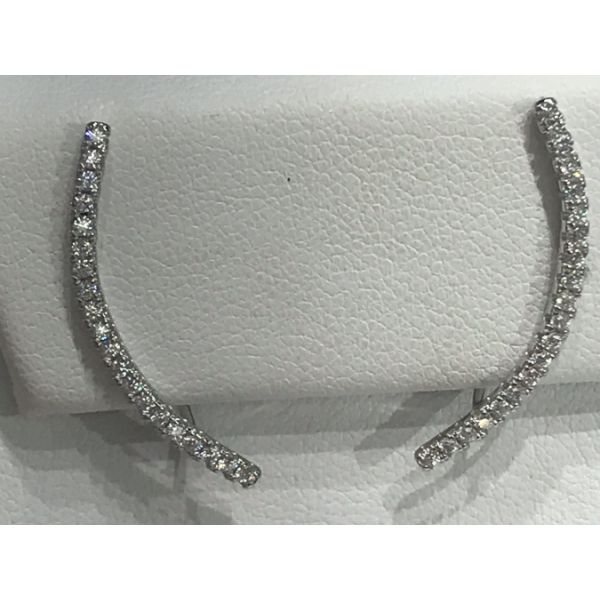 Sterling Silver with CZ Ear Pins Confer's Jewelers Bellefonte, PA