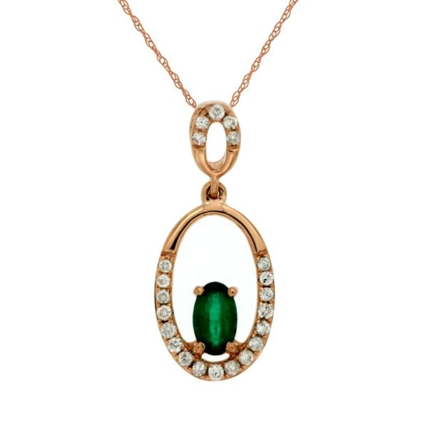 DIAMOND & EMERALD PENDANT  Cottage Hill Diamonds Elmhurst, IL