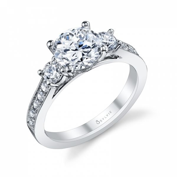 Classic Three Stone Round Brilliant Diamond Engagement Ring Cottage Hill Diamonds Elmhurst, IL