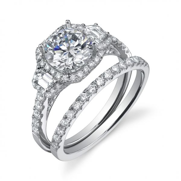 Vintage Round Brilliant Cushion Halo Diamond Engagement Ring Cottage Hill Diamonds Elmhurst, IL