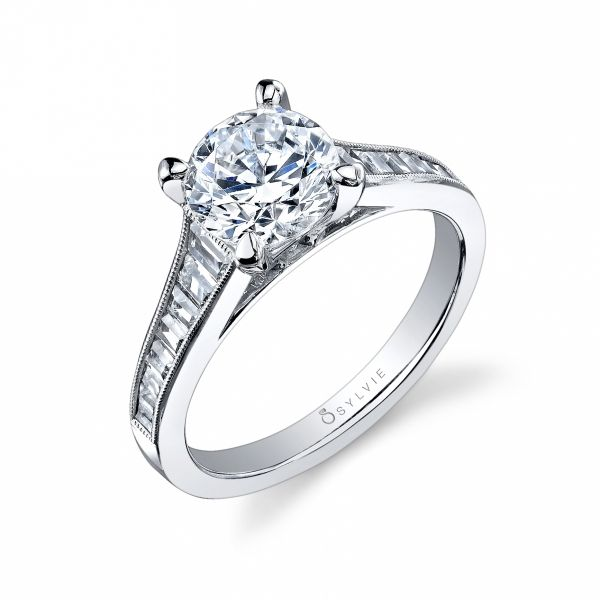 Classic Round Brilliant Tapered Baguette Diamond Engagement Cottage Hill Diamonds Elmhurst Il