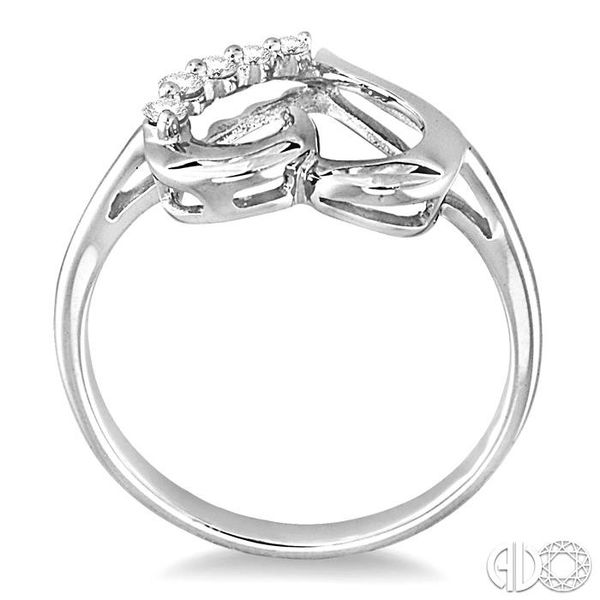 1/10 Ctw Round Cut Diamond Journey Heart Ring in 10K White Gold Image 3 Coughlin Jewelers St. Clair, MI