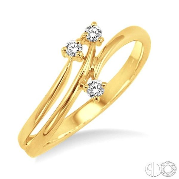 1/10 Ctw Round Cut Diamond Ring in 10K Yellow Gold Coughlin Jewelers St. Clair, MI