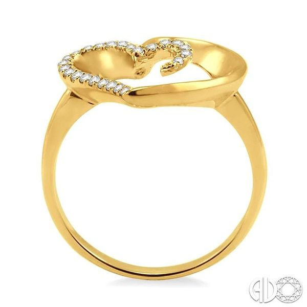 1/10 Ctw Round Cut Diamond Heart Shape Ring in 14K Yellow Gold Image 3 Coughlin Jewelers St. Clair, MI