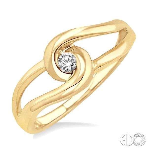 1/20 Ctw Round Cut Diamond Ring in 10K Yellow Gold Coughlin Jewelers St. Clair, MI