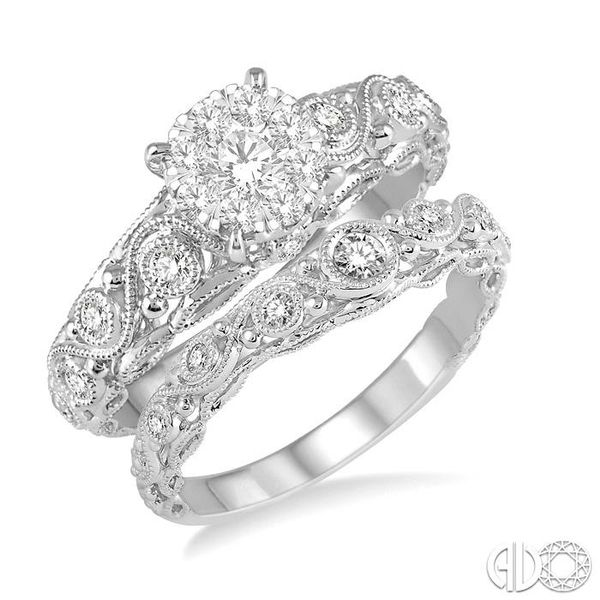 5/8 Ctw Diamond Lovebright Wedding Set with 1/2 Ctw Engagement Ring and 1/6 Ctw Wedding Band in 14K White Gold Coughlin Jewelers St. Clair, MI