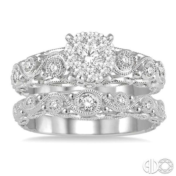 5/8 Ctw Diamond Lovebright Wedding Set with 1/2 Ctw Engagement Ring and 1/6 Ctw Wedding Band in 14K White Gold Image 2 Coughlin Jewelers St. Clair, MI