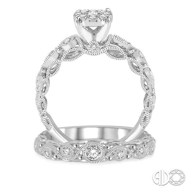 5/8 Ctw Diamond Lovebright Wedding Set with 1/2 Ctw Engagement Ring and 1/6 Ctw Wedding Band in 14K White Gold Image 3 Coughlin Jewelers St. Clair, MI