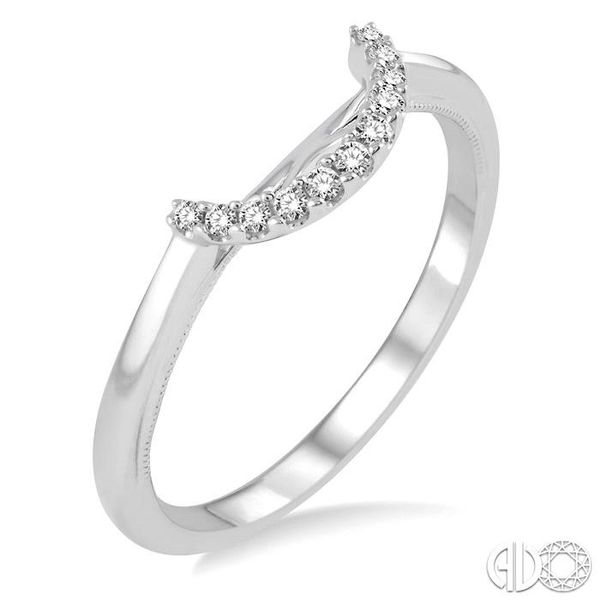 1/10 Ctw Round Cut Diamond Wedding Band in 14K White Gold Coughlin Jewelers St. Clair, MI