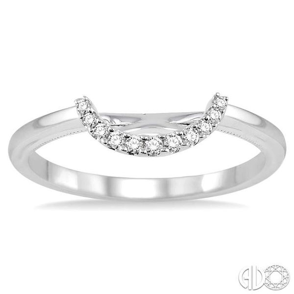 1/10 Ctw Round Cut Diamond Wedding Band in 14K White Gold Image 2 Coughlin Jewelers St. Clair, MI