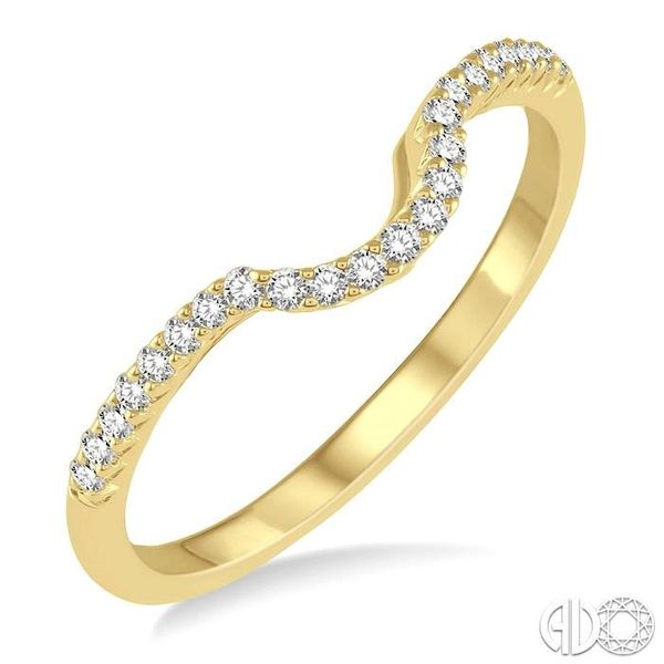 1/6 ctw Deep Curve Center Round Cut Diamond Wedding Band in 14K Yellow Gold Coughlin Jewelers St. Clair, MI