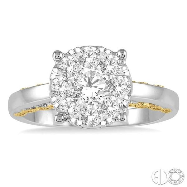 1 Ctw Round Diamond Lovebright Solitaire Style Engagement Ring in 14K White and Yellow Gold Image 2 Coughlin Jewelers St. Clair, MI