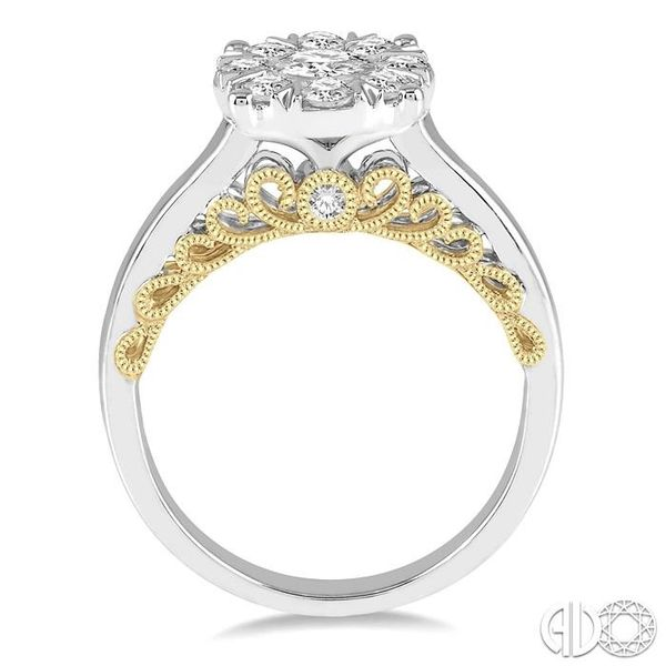1 Ctw Round Diamond Lovebright Solitaire Style Engagement Ring in 14K White and Yellow Gold Image 3 Coughlin Jewelers St. Clair, MI