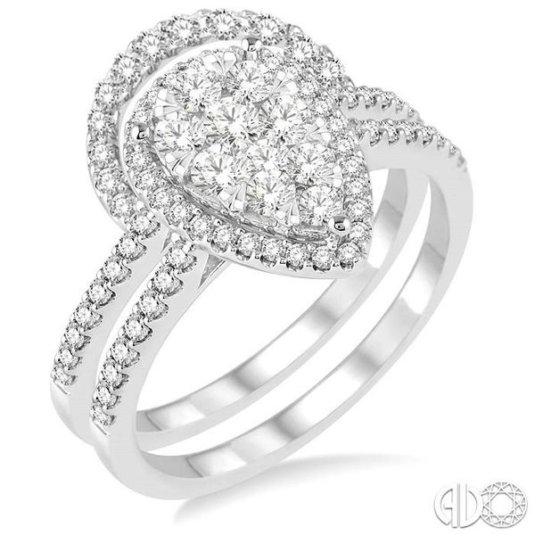 3/4 Ctw Diamond Lovebright Wedding Set with 1/2 Ctw Engagement Ring and 1/5 Ctw Wedding Band in 14K White Gold Coughlin Jewelers St. Clair, MI