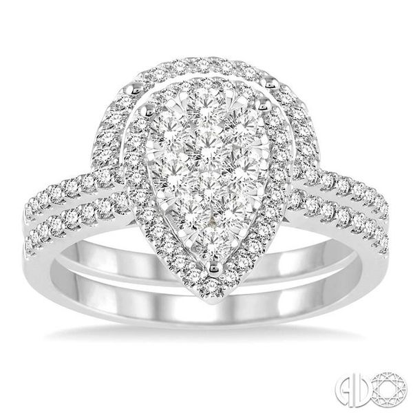 3/4 Ctw Diamond Lovebright Wedding Set with 1/2 Ctw Engagement Ring and 1/5 Ctw Wedding Band in 14K White Gold Image 2 Coughlin Jewelers St. Clair, MI