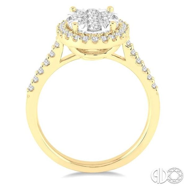 1 Ctw Oval Shape Diamond Lovebright Ring in 14K Yellow and White Gold Image 3 Coughlin Jewelers St. Clair, MI