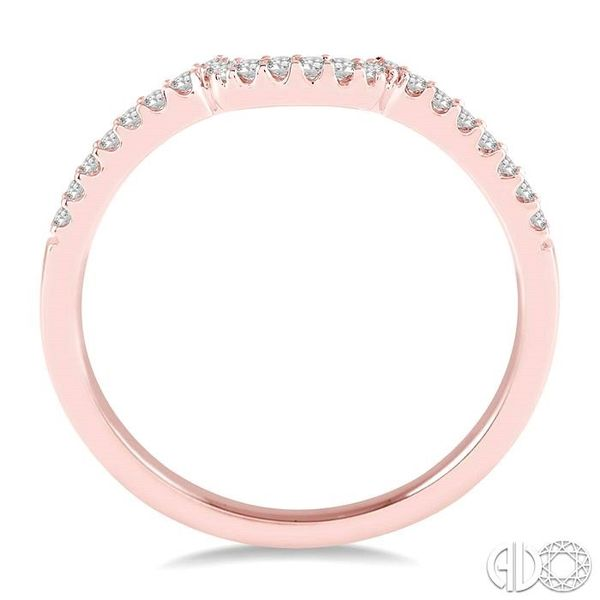 1/6 Ctw Round Cut Diamond Wedding Band in 14K Rose Gold Image 3 Coughlin Jewelers St. Clair, MI
