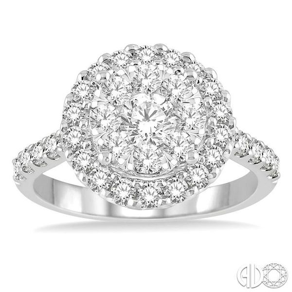 1 1/2 Ctw Round Shape Diamond Lovebright Ring in 14K White Gold Image 2 Coughlin Jewelers St. Clair, MI