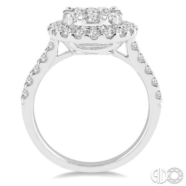 1 1/2 Ctw Round Shape Diamond Lovebright Ring in 14K White Gold Image 3 Coughlin Jewelers St. Clair, MI