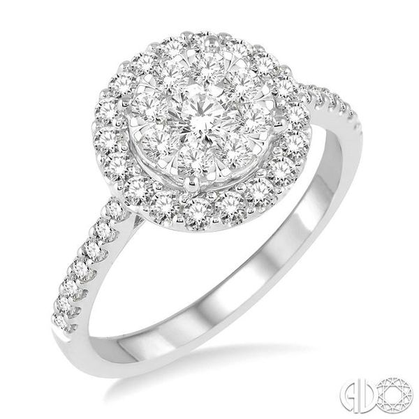 1 Ctw Round Shape Diamond Lovebright Ring in 14K White Gold Coughlin Jewelers St. Clair, MI