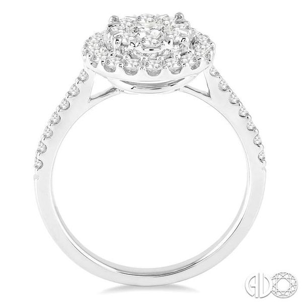 1 Ctw Round Shape Diamond Lovebright Ring in 14K White Gold Image 3 Coughlin Jewelers St. Clair, MI