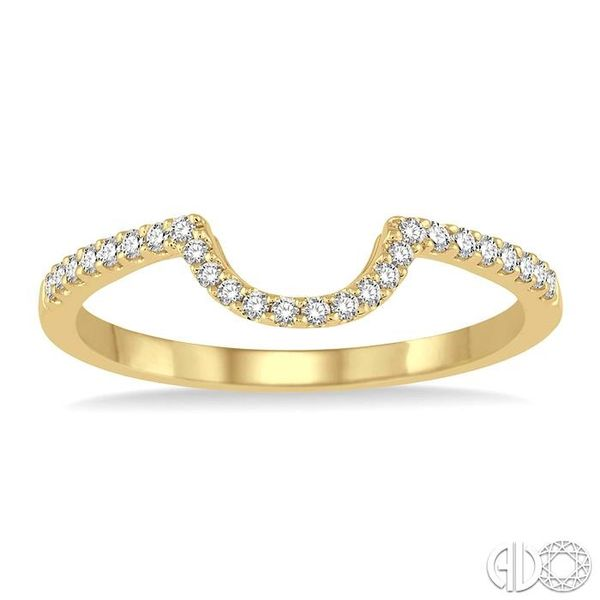 1/5 Ctw Round Cut Diamond Wedding Band in 14K Yellow Gold Image 2 Coughlin Jewelers St. Clair, MI