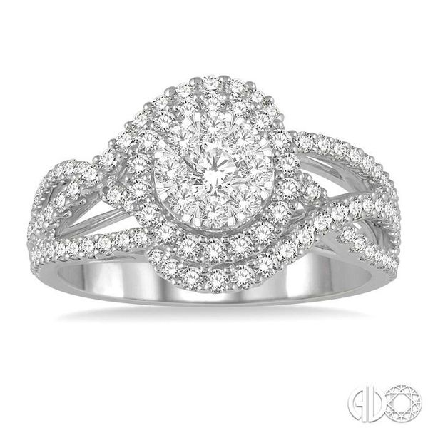 1 1/10 Ctw Round Cut Diamond Lovebright Engagement Ring in 14K White Gold Image 2 Coughlin Jewelers St. Clair, MI