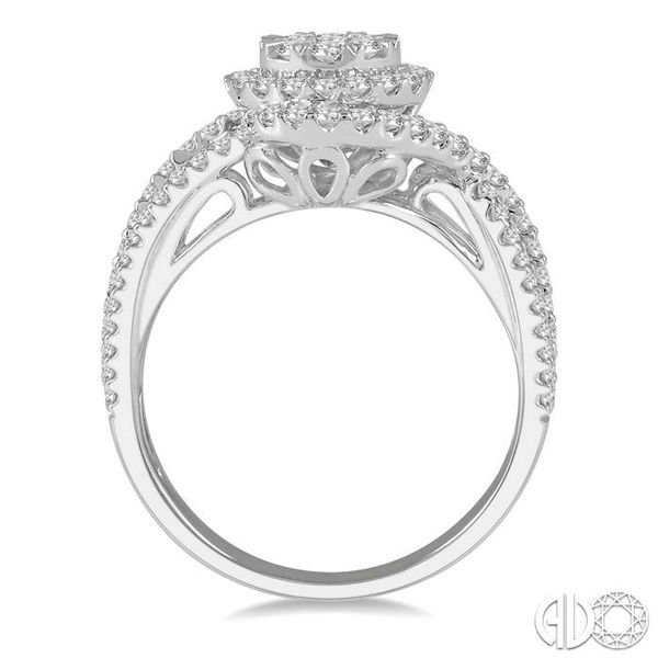 1 1/10 Ctw Round Cut Diamond Lovebright Engagement Ring in 14K White Gold Image 3 Coughlin Jewelers St. Clair, MI