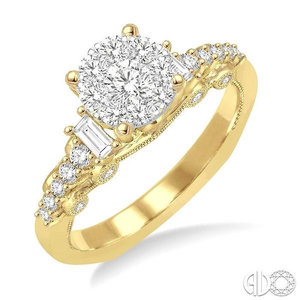 3/4 Ctw Diamond Lovebright Engagement Ring in 14K Yellow and White Gold Coughlin Jewelers St. Clair, MI