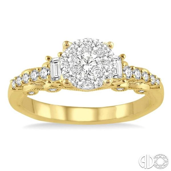 3/4 Ctw Diamond Lovebright Engagement Ring in 14K Yellow and White Gold Image 2 Coughlin Jewelers St. Clair, MI