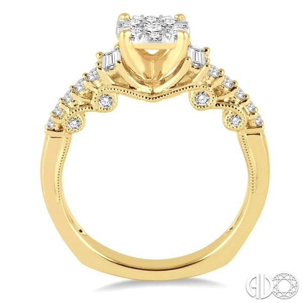 3/4 Ctw Diamond Lovebright Engagement Ring in 14K Yellow and White Gold Image 3 Coughlin Jewelers St. Clair, MI