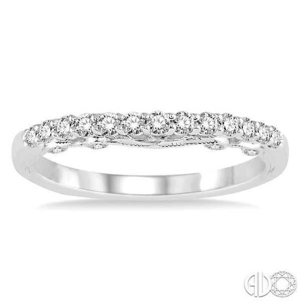 1/3 Ctw Round Cut Diamond Wedding Band in 14K White Gold Image 2 Coughlin Jewelers St. Clair, MI