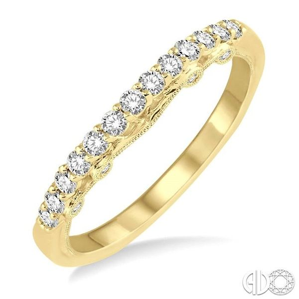 1/3 Ctw Round Cut Diamond Wedding Band in 14K Yellow Gold Coughlin Jewelers St. Clair, MI