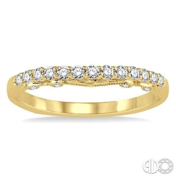 1/3 Ctw Round Cut Diamond Wedding Band in 14K Yellow Gold Image 2 Coughlin Jewelers St. Clair, MI