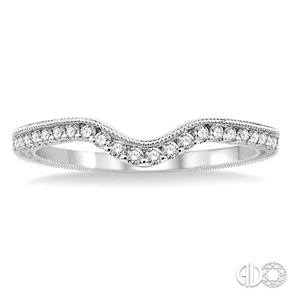 1/5 Ctw Round Cut Diamond Wedding Band in 14K White Gold Image 2 Coughlin Jewelers St. Clair, MI