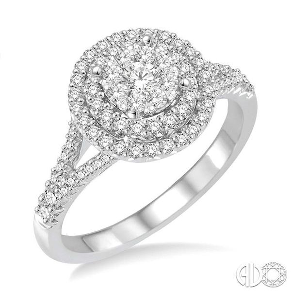 7/8 Ctw Diamond Lovebright Ring in 14K White Gold Coughlin Jewelers St. Clair, MI