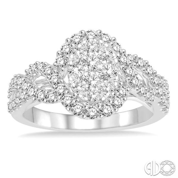 1 Ctw Diamond Lovebright Ring in 14K White Gold Image 2 Coughlin Jewelers St. Clair, MI