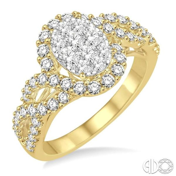 1 Ctw Diamond Lovebright Ring in 14K Yellow and White Gold Coughlin Jewelers St. Clair, MI